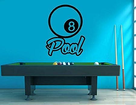 haotong11 Piscina de Billar Calcomanía de Pared l Pegatinas Snooker Juego de Deportes Decoración de Casa Mural Autoadhesivo Wallpaper 57 * 74 cm: Amazon.es: Hogar