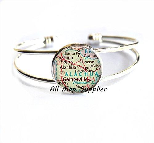 Charming Bracelet,Gainesville, Florida map Bracelets, Gainesville Bracelet, Gainesville map Bracelets, Gainesville ()