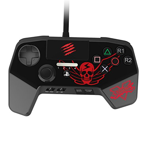 New Improved D-Pad - Mad Catz Street Fighter V FightPad PRO for PlayStation4 and PlayStation3 - Black - PlayStation 4