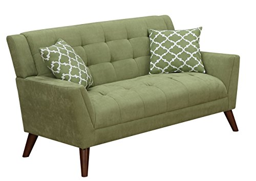 Modern Sectional Daybed (Furniture World Mid Century Love Seat, Sage)