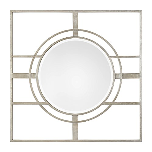 Zenon Metallic Silver Leaf - metallic wall mirrors