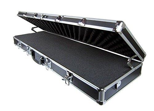 Black Aluminium Hard Gun Rifle Case Locking Carrying Shotgun Full Size 52
