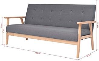 XINGLIEU Sofá Cama Gris Oscuro,Sofa de Jardin Exterior,Sofa Reclinable,Tela + Madera 158 x 67 x 73,5 cm: Amazon.es: Hogar