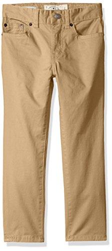Lucky Brand Little Boys' 5 Pocket Stretch Twill Pant, kelp, 7 by Lucky Brand
