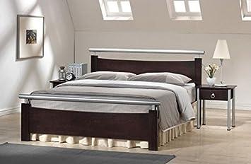 Schlafzimmer Bett Holz Metall 160x200 Cm Doppelbett Madryt Amazon