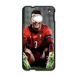 HTC One M7 Cell Phone Case Black Ronaldo CR7 Smile N9P5XD