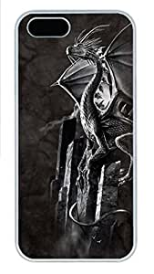 IPhone 5/5S Case Silver Dragon PC Hard Plastic Case for iPhone 5/5S Whtie