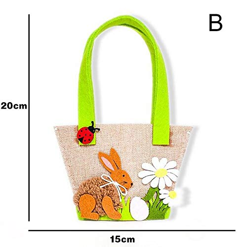 Party Diy Decorations - Easter Rabbit Egg Handbag Bag Cute Print Shopping Tote Gift Decoration Party - Decorations Party Party Decorations Easter Rabbit Handbag Tote Shop Fabric Blade Gif]()