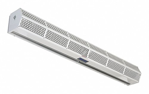 Low Profile Air Curtain, 4 ft. Max. Door Width, 7 ft. Max. Mount Ht., 54 dBA @ 10 Feet, 3300 fpm by Berner