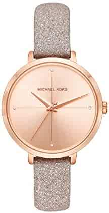 Michael Kors Women's Charley Rose Gold Leather Watch MK2794