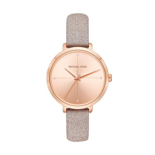 Michael Kors Women's Charley Rose Gold Leather Watch MK2794 (Michael Kors Flache)