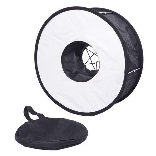 CowboyStudio Universal 18-Inch 46cm Easy-Fold Macro Ring Speedlite Flash Softbox Diffuser Reflector