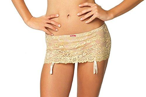 Felina Women's La dame Garter Skirt with Attached G-String - 499986 (Medium, Sugar Baby) (Garter Felina)