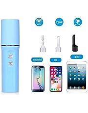ZHQI HD Cámara de endoscopio WiFi con Cuchara para el oído Visual Adecuado para iOS Android USB Ear Scope Cleaner Set Herramienta de removedor de Cera LED para niños 15 (Color Aleatorio)