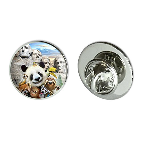 Mt Rushmore Pin - GRAPHICS & MORE Mount Mt. Rushmore National Memorial South Dakota Panda Sloth Metal 0.75
