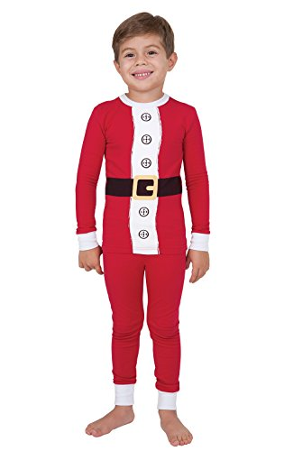 PajamaGram Santa Pajamas for Christmas w/Long-Sleeved Top, Red, Big Boys' 10 for $<!--$39.99-->