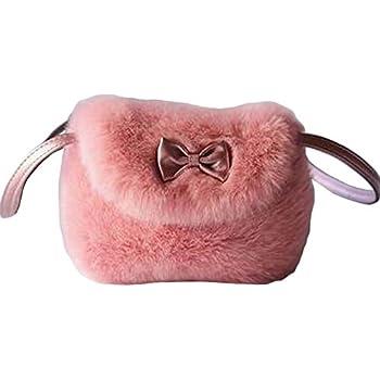 Black Temptation Beautiful Plush Kids Shoulder Bag Girls Crossbody Handbag  Purse 418bdce7e2