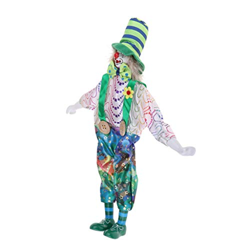 DYNWAVE 13inch Porcelain Clown Doll - Can be Marionette Puppet Doll, Can not Stand - Stage Circus Props]()
