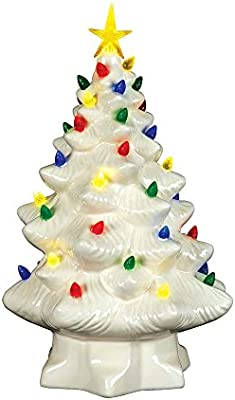Mr Christmas 14 Nostalgic Tree White 14 Inch