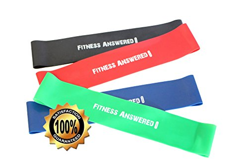 Resistance Exercise Fitness Workout Bands | Great For Arms Legs and Butt | Ultra Compact - 10
