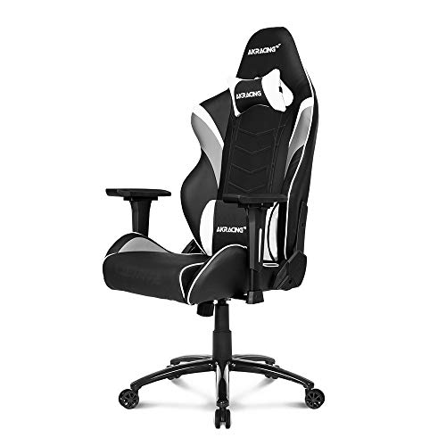 AKRacing Core Series LX Gaming Chair with High Backrest, Recliner, Swivel, Tilt, Rocker and Seat Height Adjustment Mechanisms with 5/10 Warranty - White (Gaming Chair Level Up)