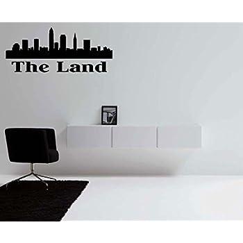 Amazoncom The Land Cleveland Ohio Skyline Vinyl Wall Decal Home - Custom vinyl decals cleveland ohio