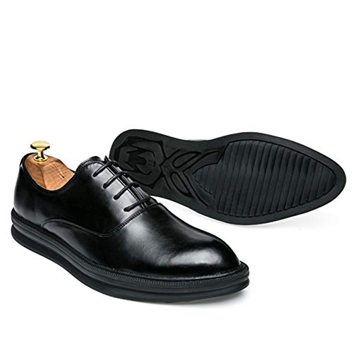 Scarpe Classic Oxford da all'aperto Contrast Fashion Scarpe Casual Comode Color Cricket Retro Business Nero da Cerimonia Men's TqxnwBx