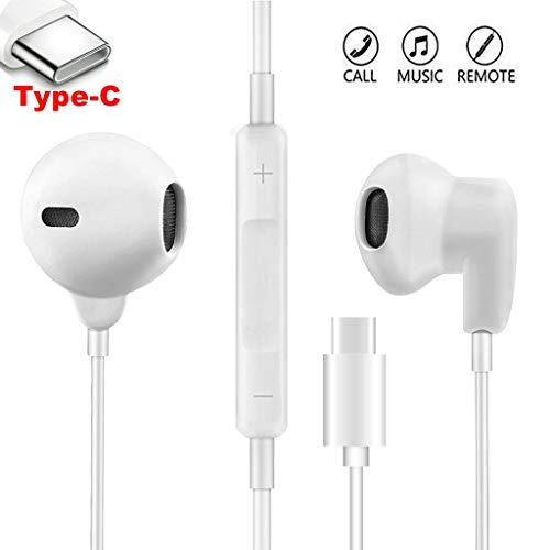 USB Type C Digital Earphones. Pixel 2 XL HiFi Stereo Headphones, Gym Sports Headsets for Google Pixel 3/2/XL, Samsung, Motorola, Huawei, Oppo, HTC, MI and More Type c