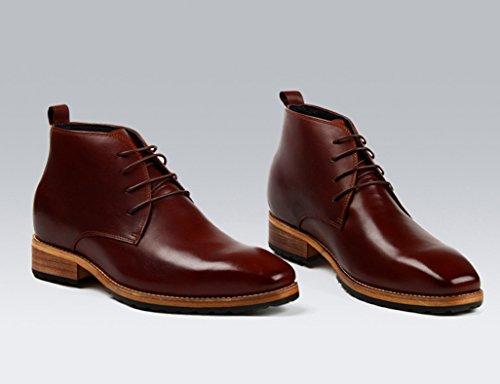 Herren Lederschuhe Herren Lederschuhe unsichtbar erhöhen High-Top-Schuhe Business Casual Schuhe Lederstiefel Herrenschuhe ( Farbe : Braun , größe : EU42/UK7.5 ) Braun
