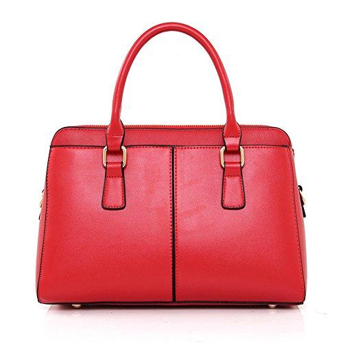 Bag Sjmmbb Retro 31x19x13cm rosso e Single kaki Lights Shoulder PZFx4AP