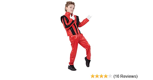Bristol Novelty CC818 Superstar Jacket/Trousers, Medium, Red, Approx Age 5 - 7 Years, Superstar. Red Jacket/Trousers (M)