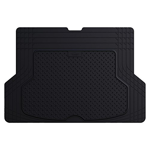 FH Group F16403BLACK Cargo Mat Fits Most Sedans, Coupes and Small SUVs (Semi Custom Trimmable Vinyl Black) (Bmw 528i Car Mats)