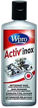 Wpro IXC100 - Detergente per acciaio inox in crema, flacone da 250 ml