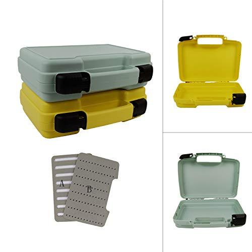 (Aventik Fly Box Streamer Box Saltwater Box Boating Box 10.43x8.27x3.15inch/265x210x80mm (Gray))