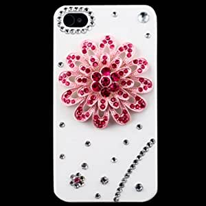 IMAX 3D Luxury Premium Bling Crystal Diamond Case Cover for Apple iPhone 4/4S (Pink Flower)