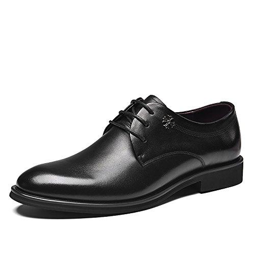 Business casual schuhen männer casual mode kleidung schuhe leder schuhe schnürschuhe,schwarz,44