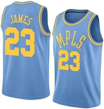 Camiseta de Baloncesto para Hombre Lebron James #23 – NBA Lakers, Tejido Bordado Swingman Jersey (tamaño: M – XXL), Primavera/Verano, Hombre, Color Azul Celeste, tamaño XL (185cm/85-95kg): Amazon.es: Deportes y aire libre