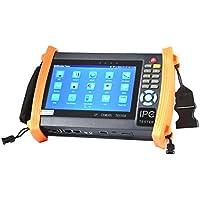 Electop 7 Inch CCTV Tester Onvif IP Camera Tester Touch Screen Monitor AHD,HD-TVI,HD-CVI,SDI HDMI 1080P,PTZ Control,POE,WIFI,IP Scan,Port Flashing ET-ADHS8600