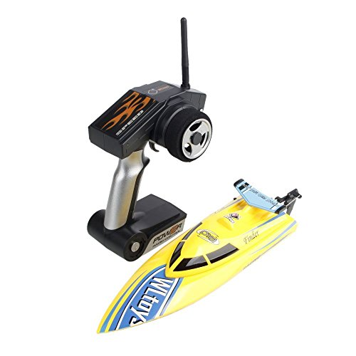 AMPERSAND SHOPS Super Storm Engine 4CH 2.4GHZ R/C Freedom High Speed Racing Boat (Yellow)