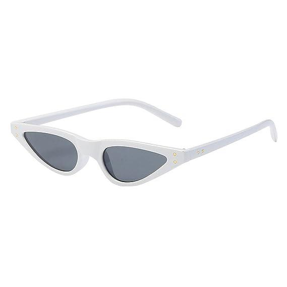 f5ad4a0b1d Fossen Unisexo Vintage Gafas De Sol Gafas Gato Ojos Pequeño Retro Moda Gafas  Para Mujer Hombre (A): Amazon.es: Ropa y accesorios