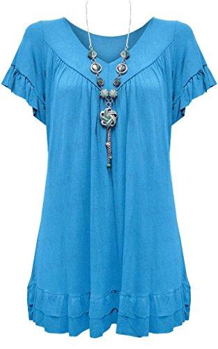 Vanilla Inc - Camisas - Manga Corta - para mujer turquesa