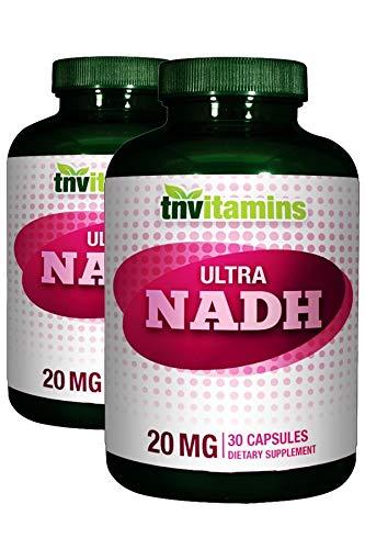 TNVitamins Ultra NADH | Nicotinamide Adenine Dinucleotide | 20mg | 60 Capsules