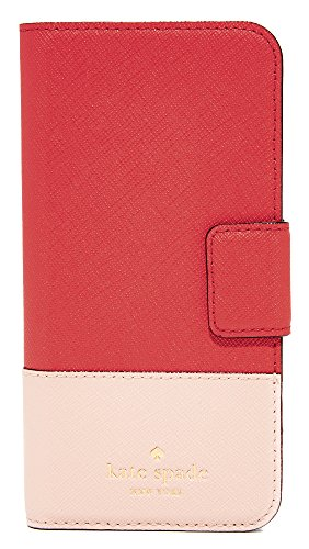 Kate Spade New York Leather Wrap Folio iPhone 7 Case, Prickly Pear Multi, iPhone 7