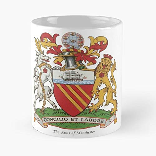 - Coat Of Arms Manchester England Europa - Funny Gifts For Men And Women Gift Coffee Mug Tea Cup White 11 Oz.the Best Holidays.