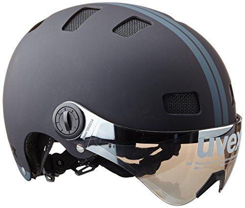 Uvex Fahrradhelm City V, Black Mat, 55-58, 4101890217