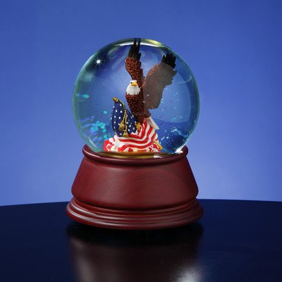 American Eagle Musical Water Globe by The San Francisco Music Box Company