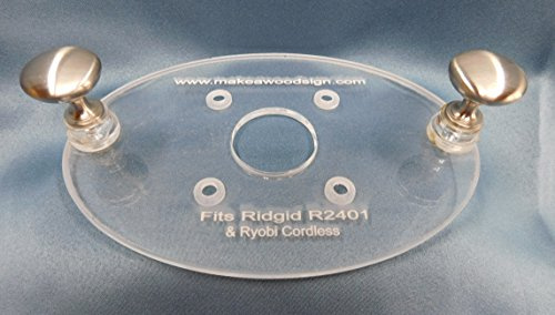 Acrylic Router Base Plate for Ridgid palm router
