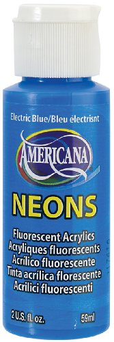 DecoArt Americana Neon's Paint, 2-Ounce, Electric Blue
