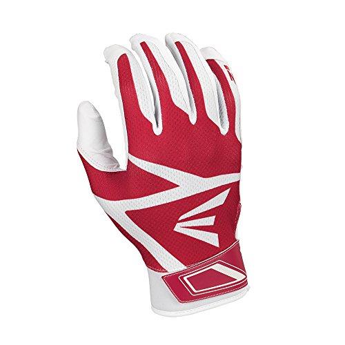 Easton Z3 Hyperskin Batting Gloves, White/Red, Medium