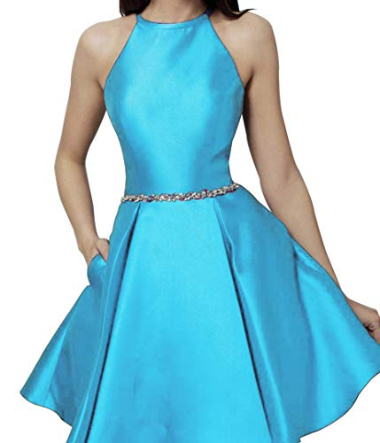 48003c2b73 Lnxianee Women s Halter Homecoming Dresses Short Cocktail Prom Party Dress